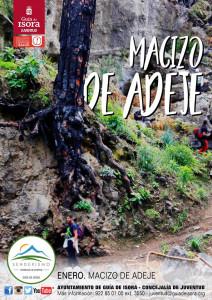 Cartel senderismo Adeje - 22 enero