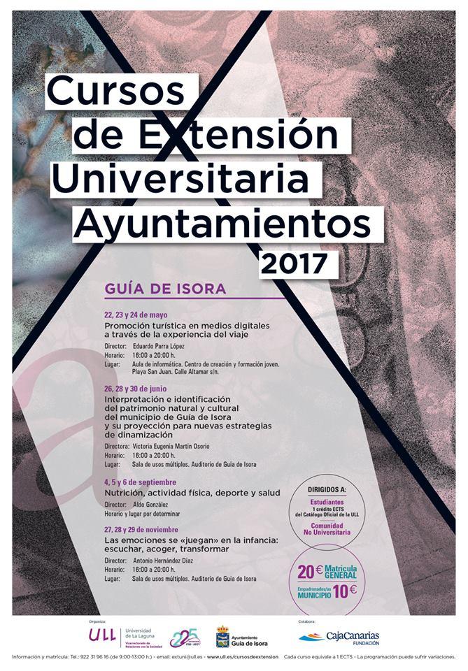 Cartel cursos extension universitaria Guía de Isora