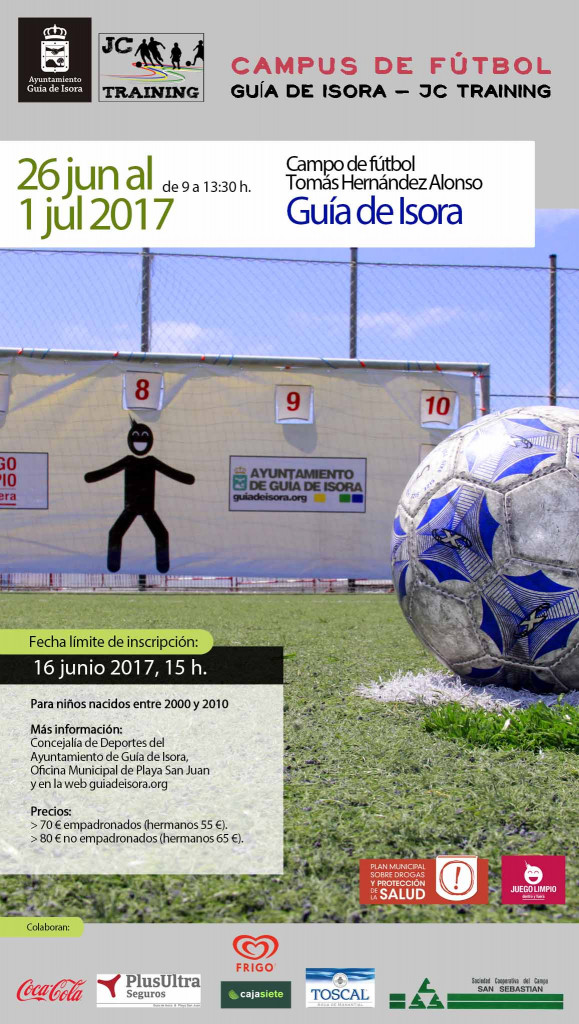 Cartel iPhone 9,8x17,34 - Campus de fútbol Guía de Isora - JC Training 2017