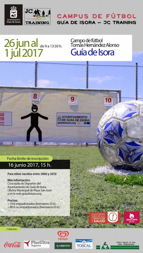 Cartel iPhone 9,8x17,34 - Campus de fútbol Guía de Isora - JC Training 2017