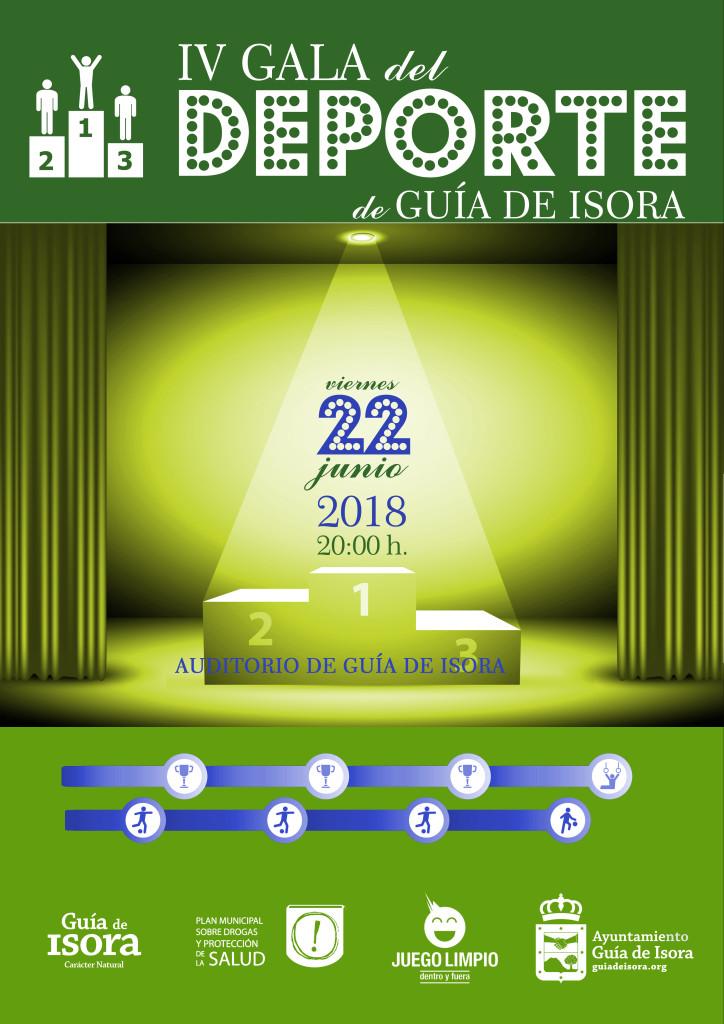 Cartel Gala del Deporte 2018.