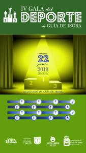 Cartel iPhone 40,82x72,25 a 72 ppp - Gala del Deporte Guía de Isora 2018