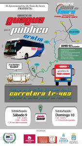 Cartel 4K - GUAGUA PÚBLICO SUBIDA A GUÍA DE ISORA 2018
