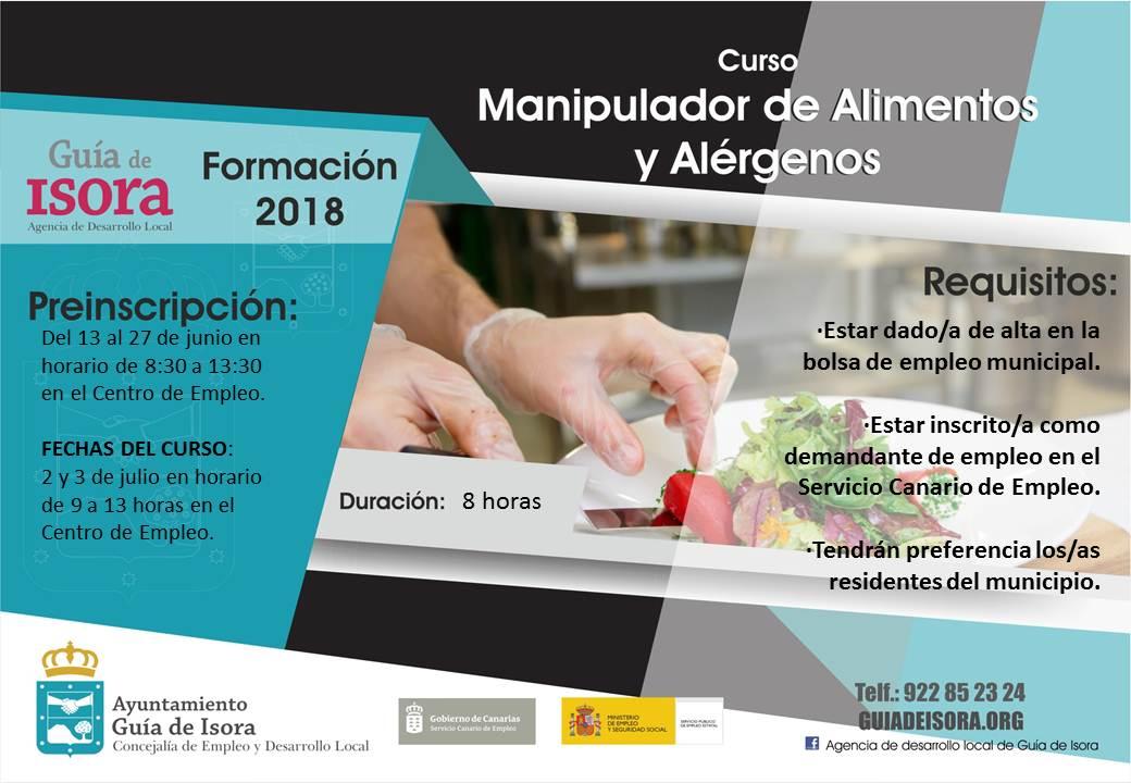 manipulador de alimentos y alérgenos | ayuntamiento de guía de isora