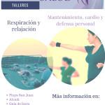 Cartel Bienestar y salud, cursos