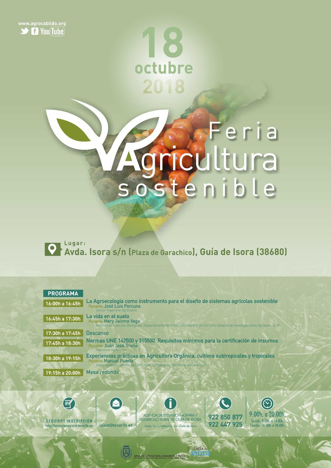 Cartel wathsapp Feria Agric Sostenible 18 oct