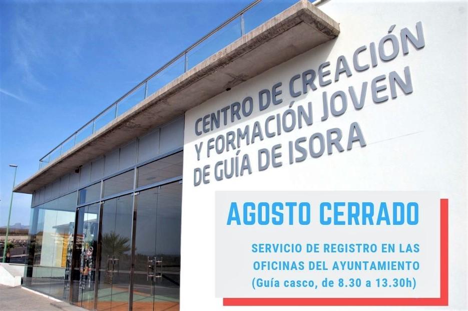 CENTRO DE CREACIÓN JOVEN CERRADO AGOSTO
