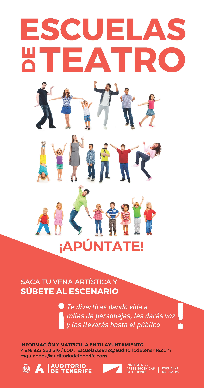 Cartel Escuelas TEATRO. TAE 2019