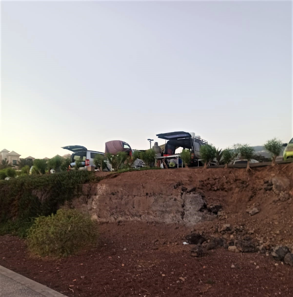 Acampada en zona no autorizada