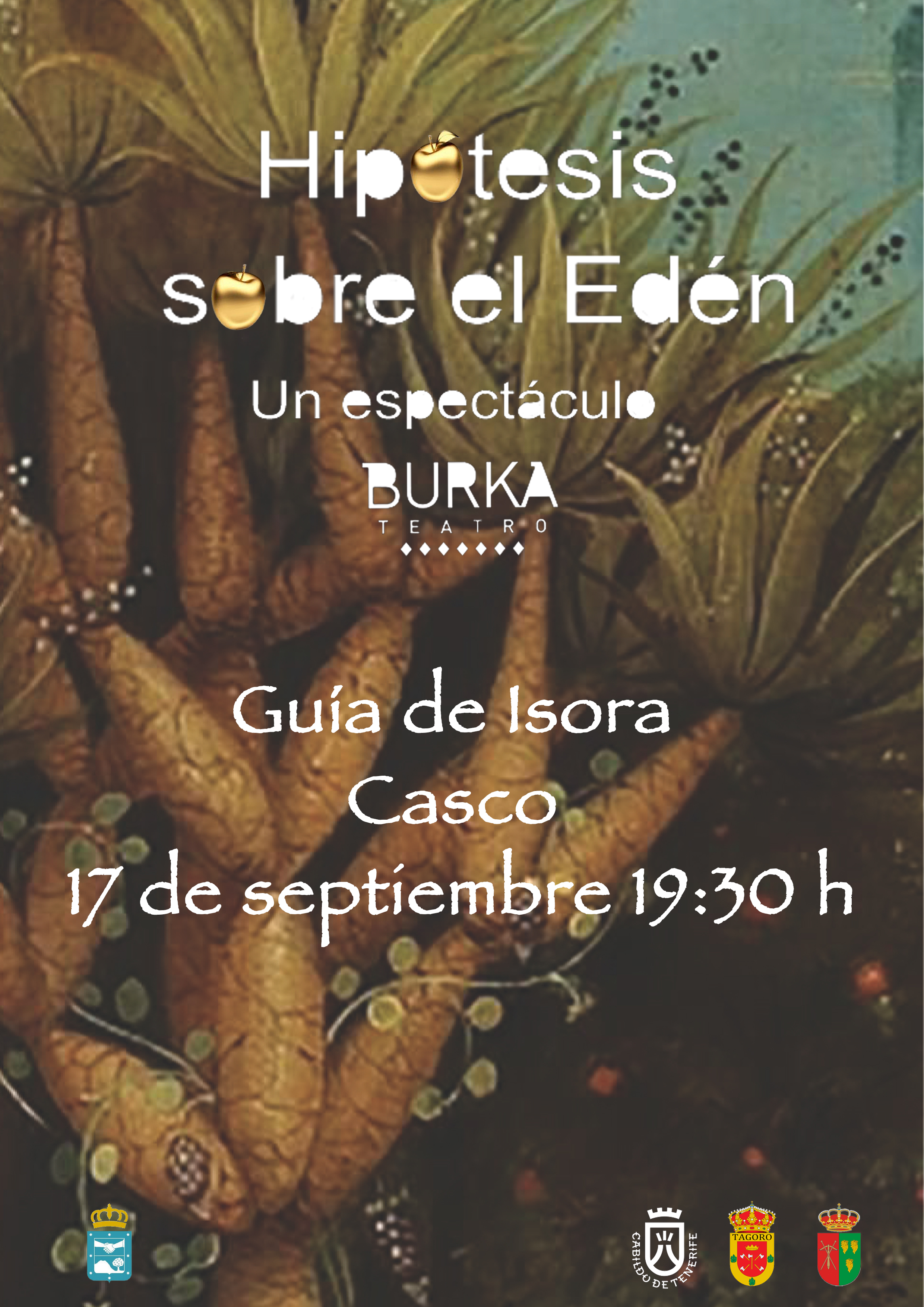 cartel HIPÓTESIS SOBRE EL EDÉN-Alto Guía
